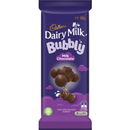 Photo of Cadbury Dairy Milk Bubbly Milk Chocolate 160g