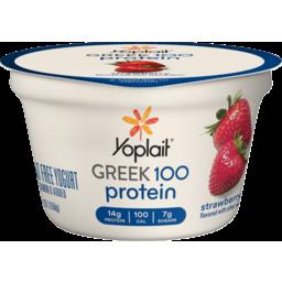Photo of Yoplait Greek 100 Protein Fat Free Yogurt Strawberry