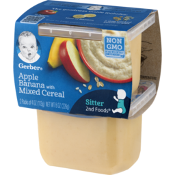 Photo of Gerber Nature Select 2nd Foods Apples & Bananas With Mixed Cereal - 2