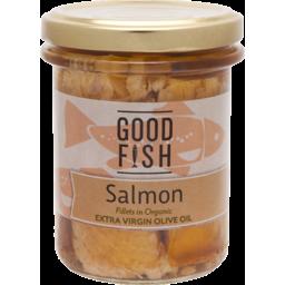 Photo of Good Fish Salmon Fillet in Olive Oil Jar 195g