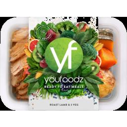 Photo of Youfoodz Roast Lamb & 3 Veg Ready To Eat Fresh Meals 350g