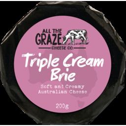 Photo of All The Graze Triple Cream Brie 200gm