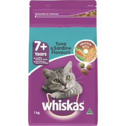 Photo of Whiskas 7+ Years Dry Cat Food Tuna & Sardine 1kg