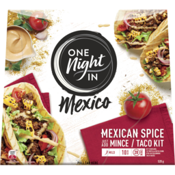 Photo of One Night In Mexico Beef Mexican Spice Taco Kit 520g