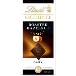 Photo of LINDT EXCELL DARK RSTD HAZELNUT 100GM