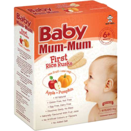 Photo of Baby Mum 1st Rice Rusk Apple & Pumpkin 36g