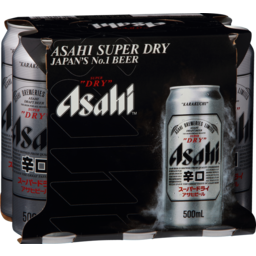 Photo of Asahi Super Dry 6 x 500ml Cans