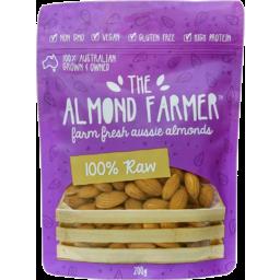 Photo of The Almond Farmer Gluten Free 100% Raw Almonds 200g