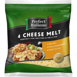 Photo of Perfect Italiano 4 Cheese Melt Grated 450g