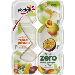Photo of Yoplait Forme Zero Yoghurt Passion Fruit, Tropical And Peach & Mango Multipack ( 6 X 160 Gms)