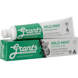 Photo of Grants Toothpaste - Mild Mint 110g