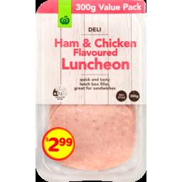 Photo of WW Sliced Ham & Chicken Luncheon 300g
