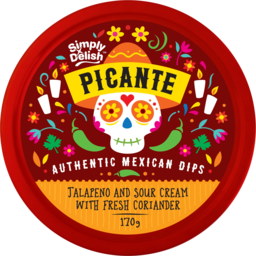 Photo of Simply Delish Picante Dip Jalapeno And Sour Cream With Fresh Coriander 170g