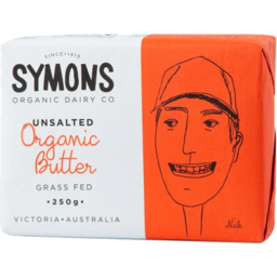 Photo of Symons Unsalted Organic Butter 250g