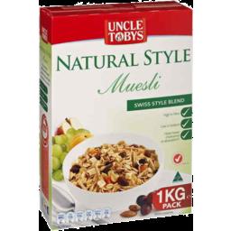 Photo of Uncle Tobys Natural Style Muesli Original Swiss 1kg