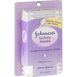 Photo of Johnson's Safety Swabs - 55 Ct