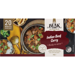 Photo of Beak & Sons Meal Beef Curry 600g