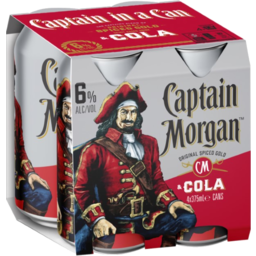 Photo of Captain Morgan & Cola Cans