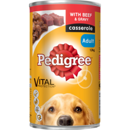 Photo of Pedigree Dog Food Can Casserole With Beef & Gravy 1.2kg