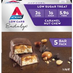 Photo of Atkins Endulge Caramel Nut Chew Bars 5 X 34g