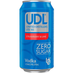 Photo of Udl Vodka & Strawberry & Lime Sugar Free Can