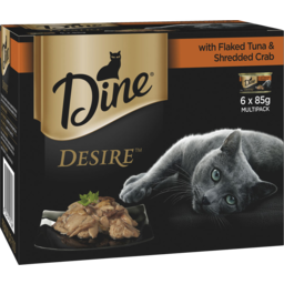 Photo of Dine Desire With Flaked Tuna & Shredded Crab 6x85g Pack