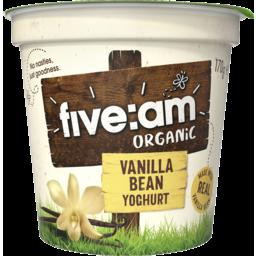 Photo of Five:Am Organic Vanilla Bean Yoghurt 170g
