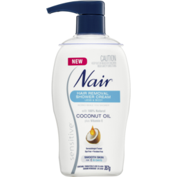 Photo of Nair Sensitive Hair Removal Shower Cream With Coconut Oil 357g