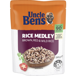 Photo of Uncle Bens Express Brown, Red & Wild Rice Medley 250g