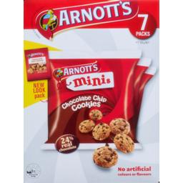 Photo of Arnott's Minis Chocolate Chip Cookies 7 Packs 175g 175g