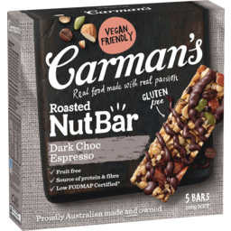 Photo of Carman's Dark Choc Espresso Nut Bars 5x32g