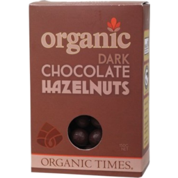 Photo of ORGANIC TIMES:OT Dark Chocolate Hazelnuts 150g