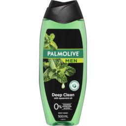 Photo of Palmolive Men Deep Clean Body Wash With Spearmint Oil Ph Balanced 500ml