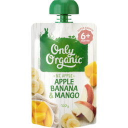 Photo of Only Organic Apple Banana & Mango 120g