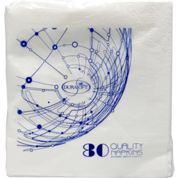 Photo of Durasoft Quality Napkins 280mm X 300mm 80 Pack
