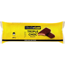 Photo of Black & Gold Triple Choc Biscuits 200gm