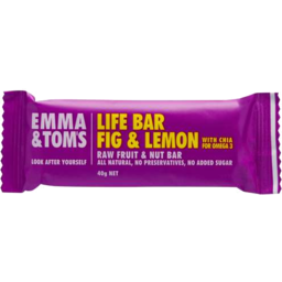 Photo of Emma & Tom Raw Life Bar Fig & Lemon (40g)