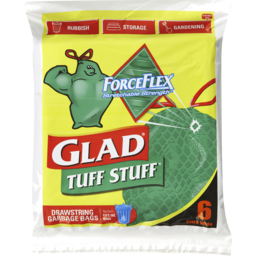 Photo of Glad Tuff Stuff 6 Extra Wide Drawstring Garbage Bags