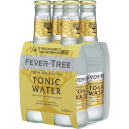Photo of Fever Tree Indian Tonic Water 200ml 4 Pack