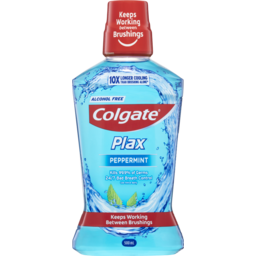 Photo of Colgate Plax Antibacterial Alcohol Free Mouthwash Peppermint 500ml