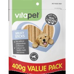 Photo of Vitapet Jh Dog Treats Milky Sticks 400g