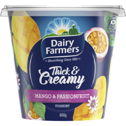 Photo of Dairy Farmers Thick & Creamy Mango & Passionfruit 600g