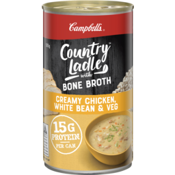 Photo of Campbell's Country Ladle Soup Creamy Chicken, White Bean & Veg With Chicken Bone Broth 505g