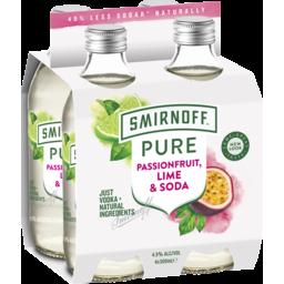 Photo of Smirnoff Pure Passionfruit Ime & Soda Stubbies