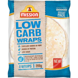 Photo of Mission Wraps Low Carb 288gm