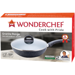 Photo of Wonderchef Granite Range Aluminium Wok 26cm,3.1L - Grey