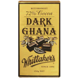Photo of Whittakers Bittersweet 72% Cocoa Dark Ghana 250gm