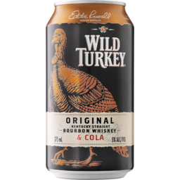 Photo of 5% Wild Turkey And Cola Single Can 375ml