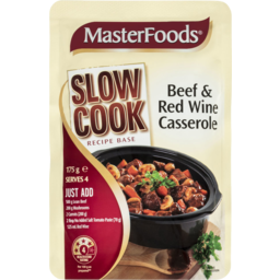 Photo of Masterfoods Slow Cook Beef & Red Wine Casserole Recipe Base 175g