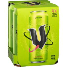 Photo of V Energy Drink Green 4x500ml
